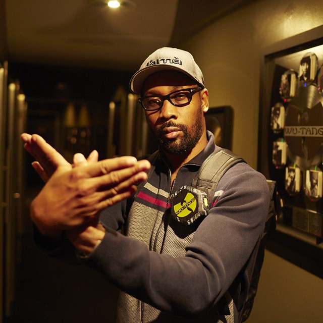 The #RZA throwing up the
