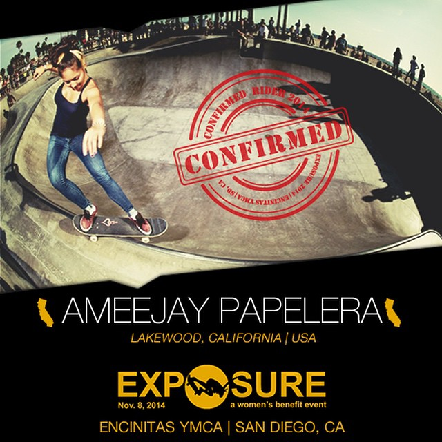 Confirmed for #EXPOSURE2014! --- AmeeJay PAPELERA @ajaypap  Birthplace: Long Beach, CA Hometown: Lakewood, CA Resides: Lakewood, CA Started Skating: 2002 Hobbies: Art, fitness, physical therapy You Might Not Know: AmeeJay owns five dogs Sponsors:...