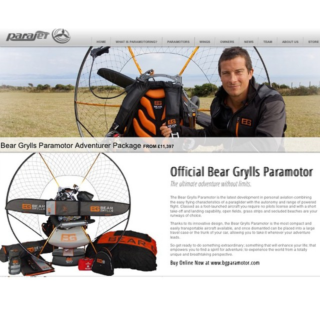 Huge news has just released in the #PPG world: @beargrylls & @Parajet have teamed up to offer the highest quality PPG gear on the planet coupled with superstar US instructor and personal hero, @superflychris (of @superflyinc in Utah) - to introduce new...