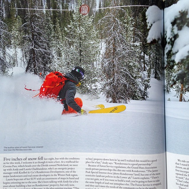 From the latest @backcountrymag. Editor, @bcm_tyco exploring Colorado's Front Range hut system on the new Wailer 112RP2. #backcountry #skiing #colorado
