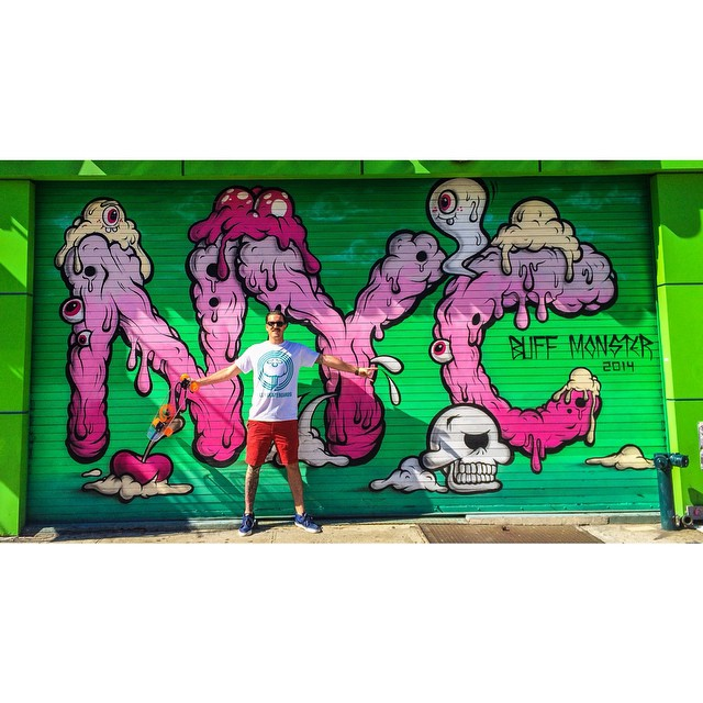 Jelly hits #NYC hard with the @buffmonster mural in China town! #jellyskateboards #jellylife #graffiti #art #bigcorstyle @coryschnitzer