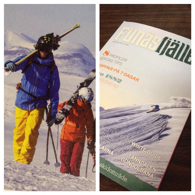 Congratulations to Panda athlete Rasmussen Ekman for landing his first cover photo! You can find him on Sweden's Funäs Fjällen this month! #TRIBEUP Sweden!  #PandaPoles #PandaTribe