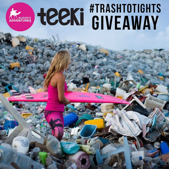 #trashtotights #giveaway  1. repost the this photo 2. follow @teekigram @alisonsadventures  3. tag #trashtotights @teekigram @alisonsadventures  4. in the caption, tell us what you did on that day to show LOVE to our EARTH.  3 THREE WINNERS will be...