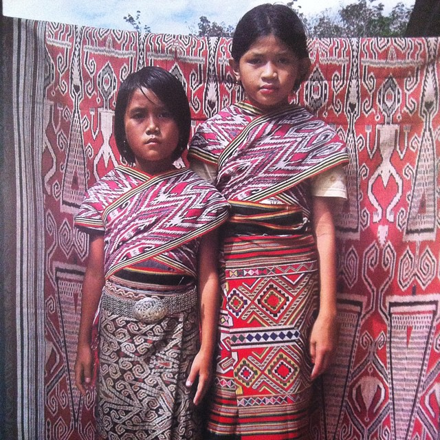 Pattern and color inspiration comes from all over - today it comes from these amazing young ladies of the Dayak tribe on the island of Borneo, Indonesia #patterns #colors #inspiration #Dayak #Borneo #indonesia #soleswithsoul