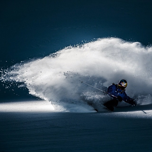 I'll take the glacier. Nadine Wallner in Austria. Image: Christoph Schoech