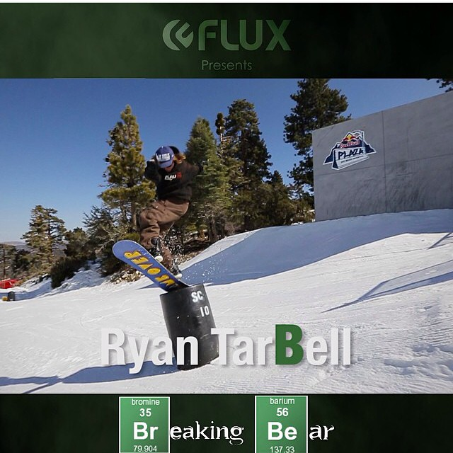 Don't miss @ryan_tarbell in the @fluxbindings relaunch of Breaking Bear!! #gameover #gethammed #academykidsrule #goodpeople #greatsnowboards #winteriscoming