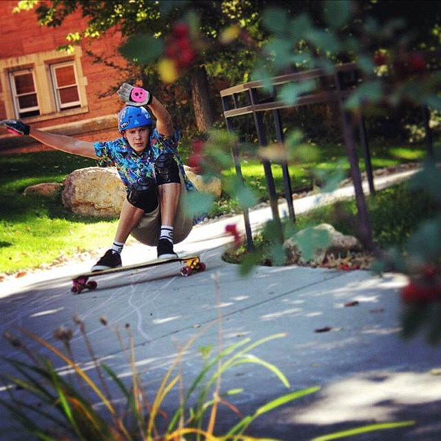 @tbanks4444 cruising with the sickest style around the campus / regram from @seismicskate #staysteez #keepitholesom