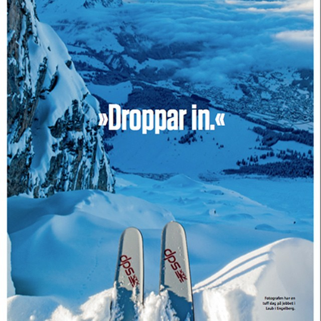 Standing atop this would make me feel ________.  @oskar_enander in front and behind the lens, ready to drop in. As seen in the latest @akaskidormag. #Engelberg #skiing #SpoonTechnology #dpsskis #Europe