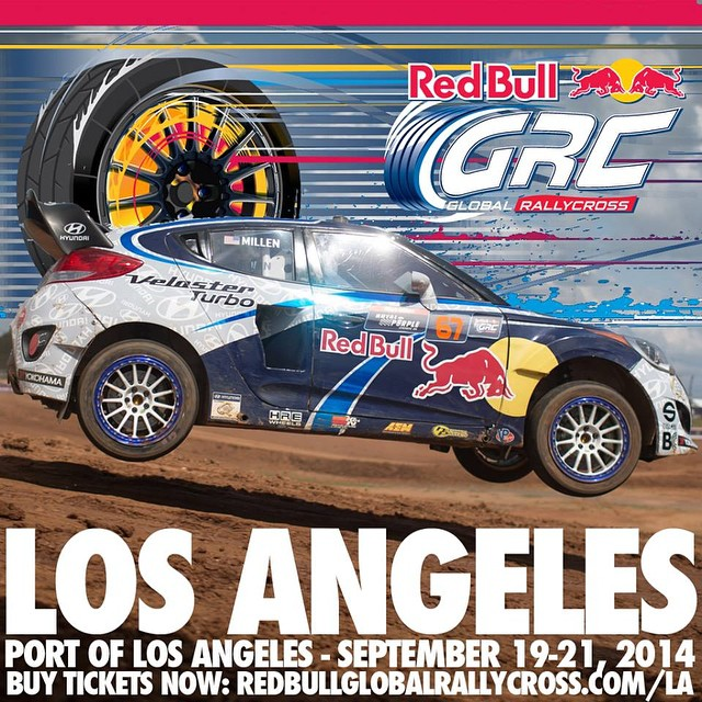 Dont miss out on this #Red Bull Rally Cross this weekend. Friday Sep 19th Practice and Qualifying is #Free to the public. Sat Sep 20th Round 7 Sund Sep 21st Round 8 Get your tix at redbullglobalrallycross.com/la