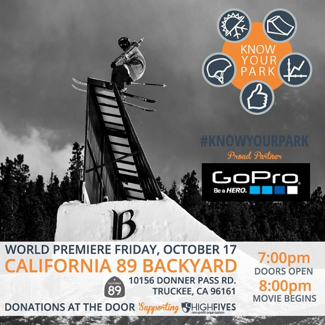 Thank you @gopro! The World Premiere of #KnowYourPark already has buzz about being the most eye-opening and stunning park safety video out there! Premiere at @cahwy89 on Oct 17! #donationbased