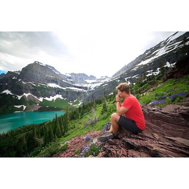 "Thanks for all of your #radparks photo contest entries! The winner of our Topo Trail hat is @jaclynnewmandorn! In her own words, ""Here is a shot from Glacier National Park in NW Montana! We took a break on the trail to Grinnell Glacier, one of 25..."