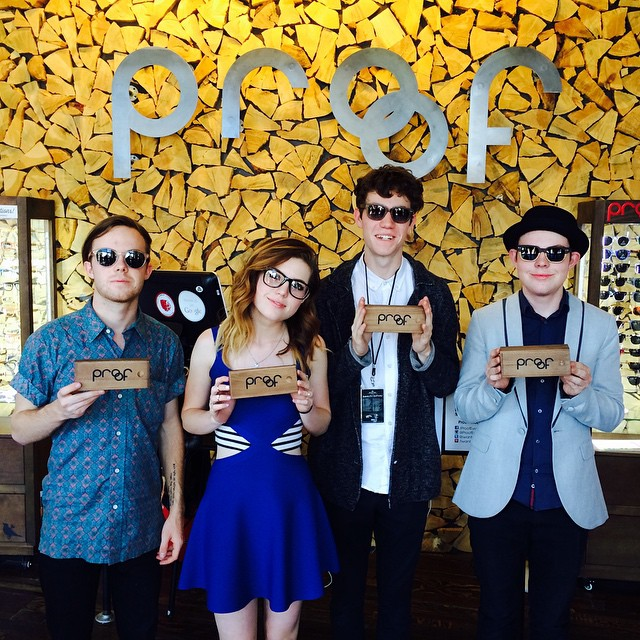 Echosmith stopped by our Global HQ/Flagship Store today and left with some Proofs || Great artists & even better people!
