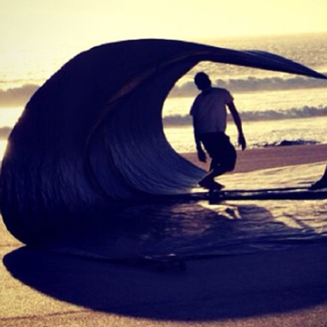 #barrel #tarp #surfing #carver #stoke #skate #surf #on #wheels