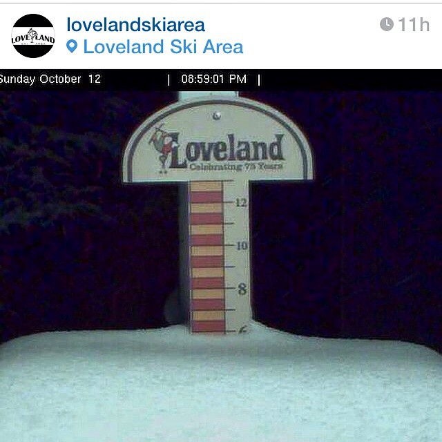Mondays are tough, but fresh snow tends to make everything better. @lovelandskiarea #itson #embracethestorm