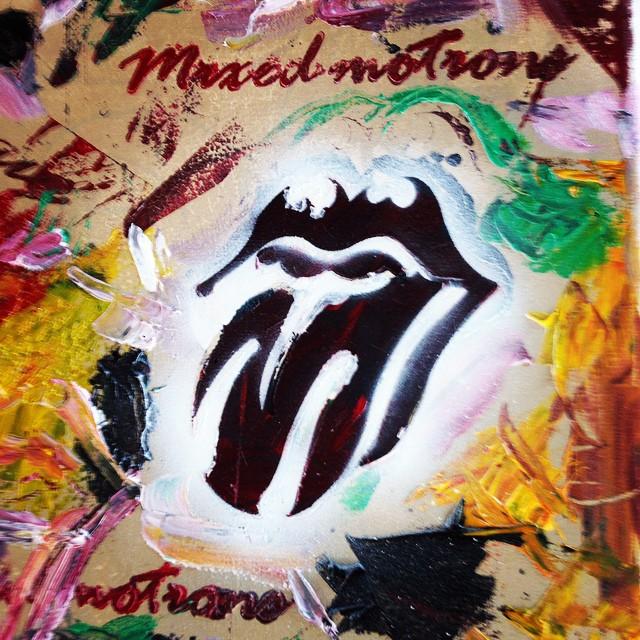 Óleo sobre tela... #mixedmotions #art #arte #rollingstones #rock #musica #music #chilimango