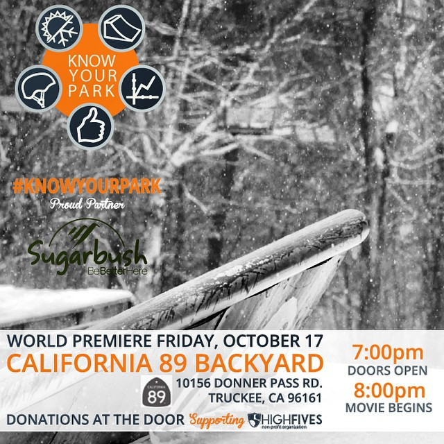 Two words: Endless gratitude. Thank you @sugarbush_vt for your support of #KnowYourPark which will be premiering THIS FRI Oct. 17th @cahwy89! #donationbased