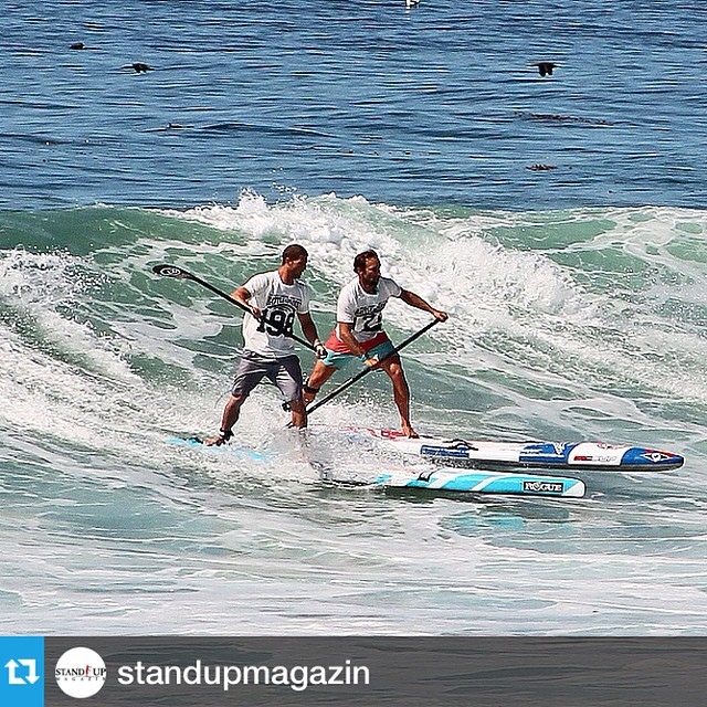#Repost from @standupmagazin --- @joshriccio and @ericterrien in a tight race to the beach. #battleofthepaddle2014 #battleofthepaddle #bop2014 #saltcreek #suprace