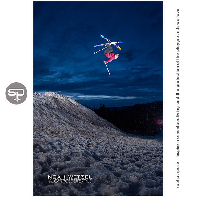 It's Canadian Thanksgiving today…. This photo has nothing to do with that.  Nevertheless, in the spirit of gratitude, we are grateful for the generous air time Conor Pelton received after popping off the lip on this cool spring evening in Steamboat, CO...