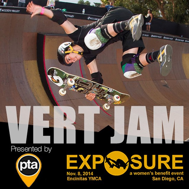 Who's ready to see some of the best female vert skaters in the world? We know PTA (www.thepta.com) is as they are presenting the Vert Jam at #EXPOSURE2014!