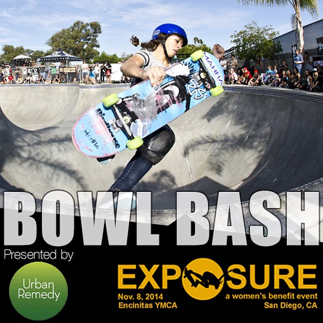 Jonseing to see concrete shredded by some of the best female bowl skaters on the planet? We have your remedy. The @urbanremedy Bowl Bash at #EXPOSURE2014.