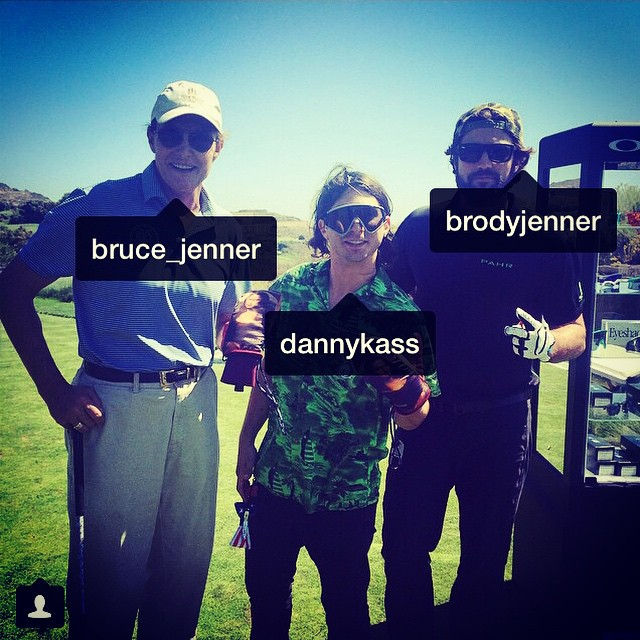 @dannykass is keeping up with the Kardashians ummm...well @bruceJenner. @ladynaes on the photo. #golfingwithshecks