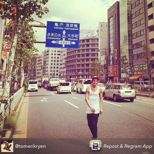 Is that #godzilla? Nah it's just @tomerikryen getting his grown man on & maintaining his #sexy #tokyocityslasher!