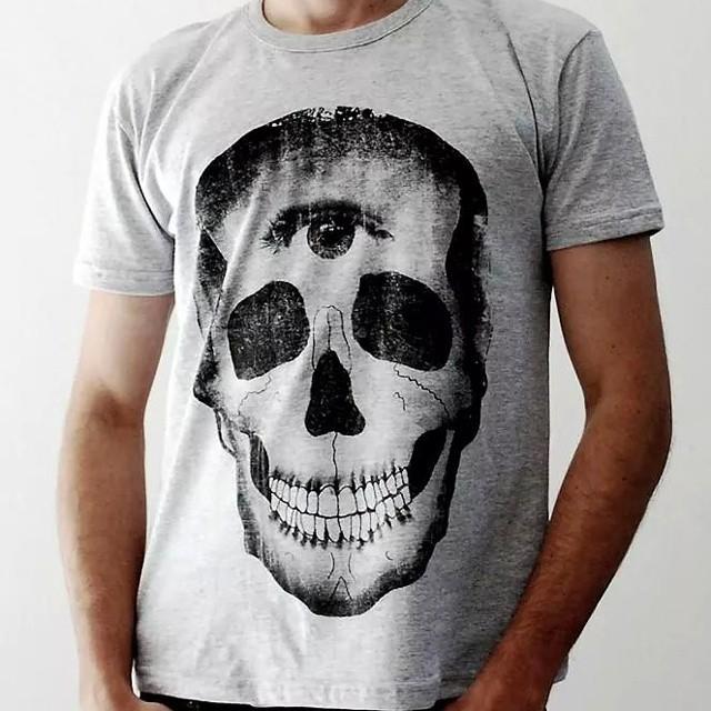 Tambien la clasica en gris #skull #tshirt #perrabastarda