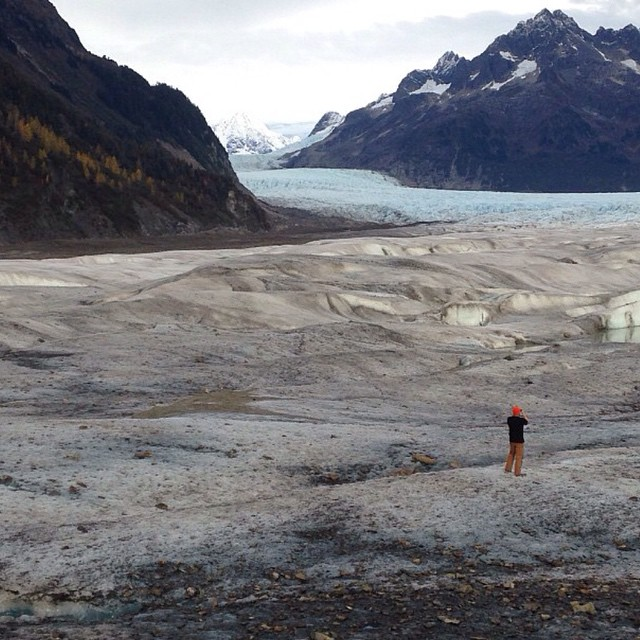 Searching for inspiration in Alaska's glaciers, where there's an abundance of #fineliving.