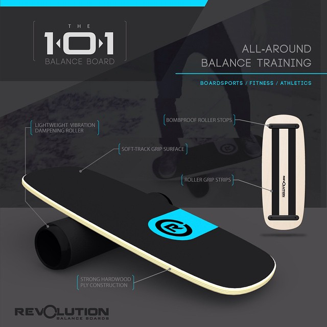 Check out our 101 #balanceboard  A great board for anyone starting out or anyone looking to add a little balance training into their routine. Better balance can drastically improve your boardsports and athletic skill and provide some pretty insane...