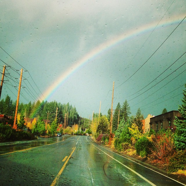 You can't have a rainbow without a little rain!  #truckeemoments