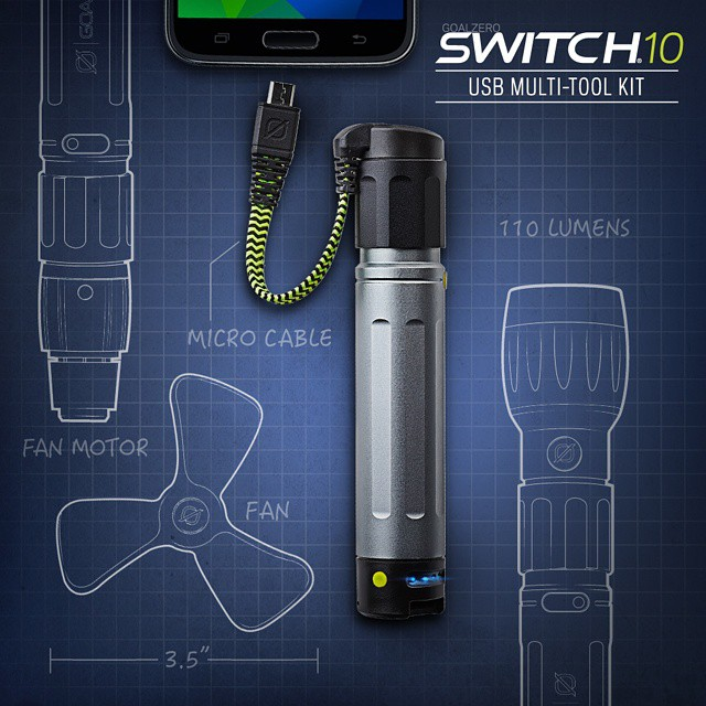 We're proud to introduce the future of multi-tools! The Switch 10 USB Multi-Tool is a charger, flashlight and fan. Click the link in our profile to learn more and get yours!