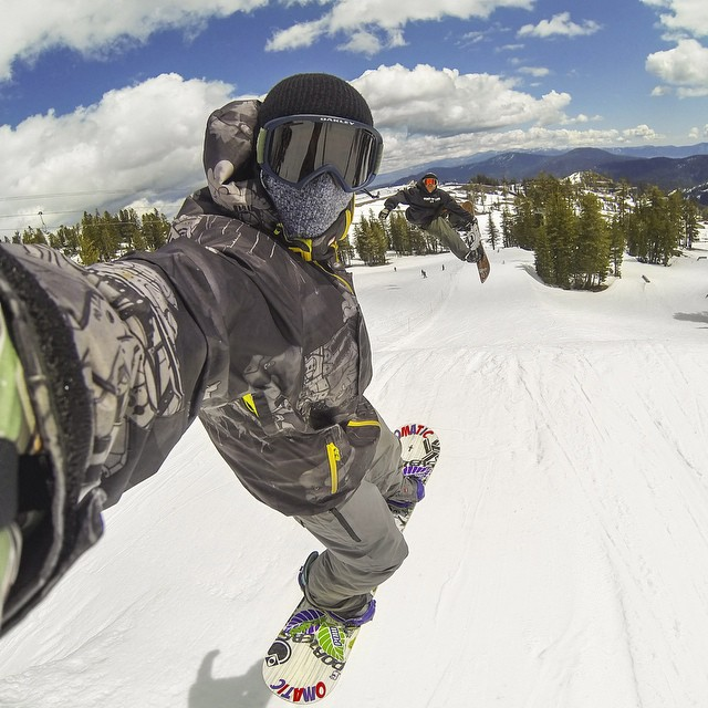 Photo of the Day! @zakshelhamer sends it at @SquawValley. #snowboarding
