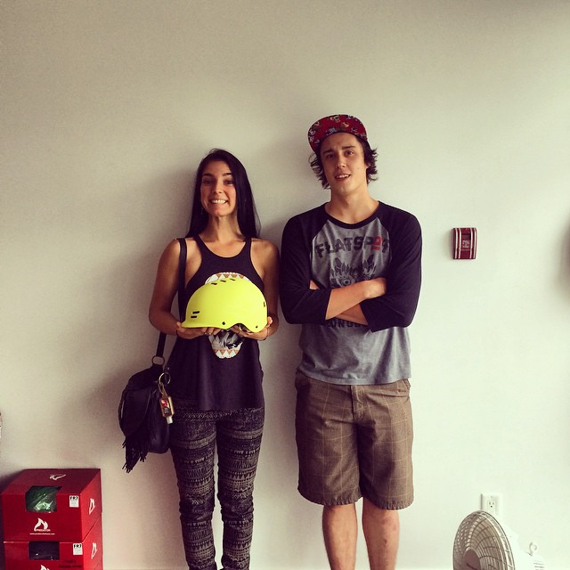 Stand there and be enthusiastic @cocomarii @mikefitter!!powercouple #longboarding #xshelmets #rolemodel #cute #hesaidshesaid