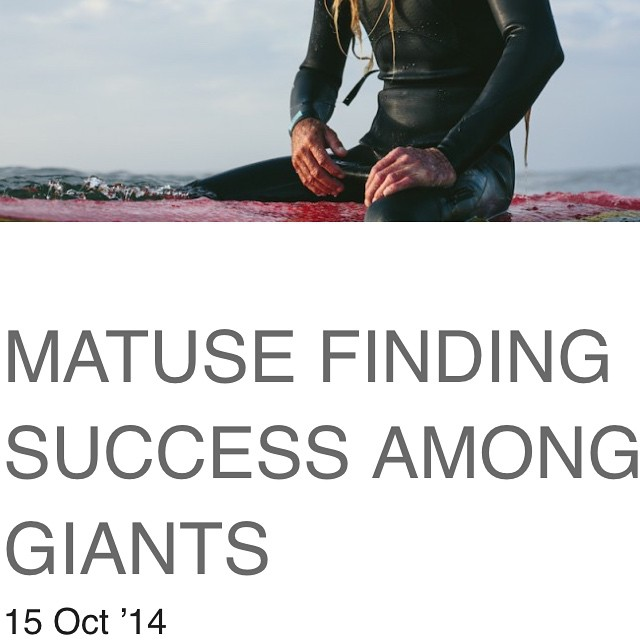 In case you missed it check out the NYC Surf Collective piece that @victoriamarieclark put together on @matuseinc and our love for the Company #lovematuse