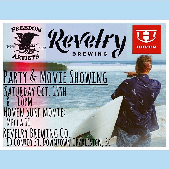 If you're in the Downtown Charleston area, come out for the after party and movie showing of Mecca II! #revelrybrewingco @revelrybrewingco #FreedomArtists @freedomartist #meccaII @bryjonhay #afterparty #freeswag