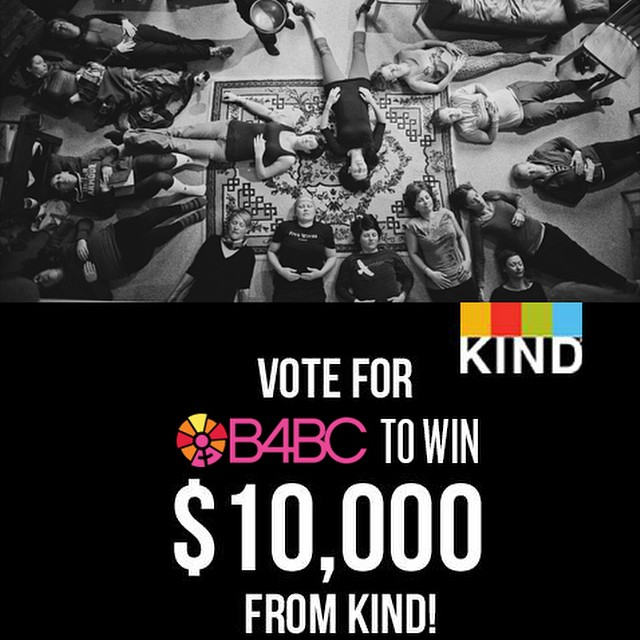 We are so honored to be nominated to win $10,000 from @Kindsnacks Causes! We need your help—by voting for #B4BC, you can help us send 12-15 breast cancer survivors and women currently battling breast cancer on wellness retreats to promote healing and...