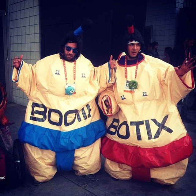Throwback to CES 2013 in Las Vegas! #tbt  #sumosuits #boombotix
