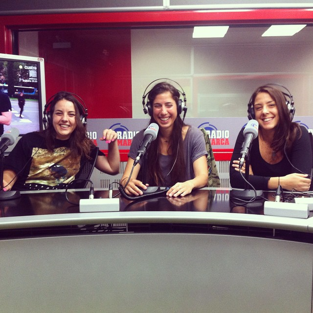@kateslynne, @valeriakechichian & @ishtiish were interviewed today by Spanish radio #Marca to talk about Open and the worldwide premiere in Madrid tomorrow Friday 17. This was fun!