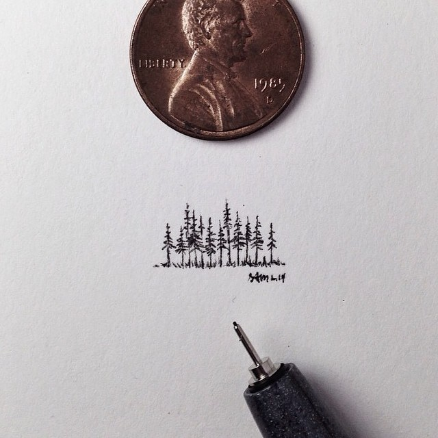 Sometimes whispering is more effective than shouting. Tiny Forest by @samlarson #thinkbig #drawsmall