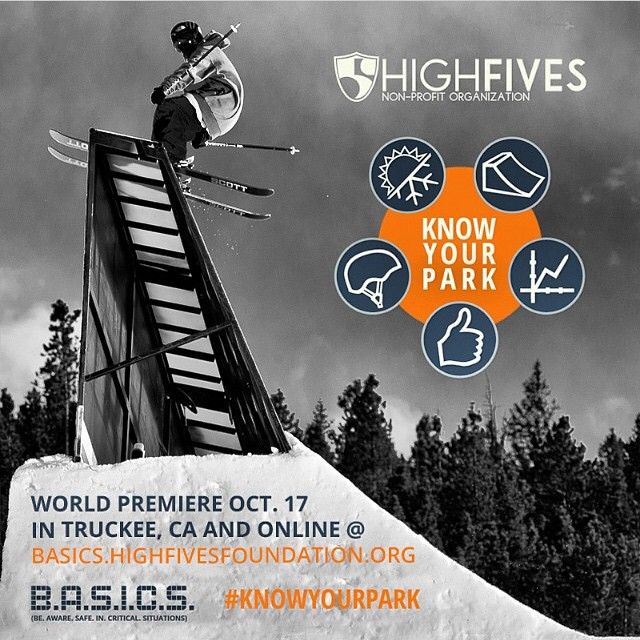 Tahoe / Truckee / #biggestlittlecity friends: The @hi5sfoundation would like to invite you to attend the WORLD PREMIERE of #KnowYourPark - the 4th installment of the Foundation's B.A.S.I.C.S. (Be Aware Safe In Critical Situations) Program Service. The...
