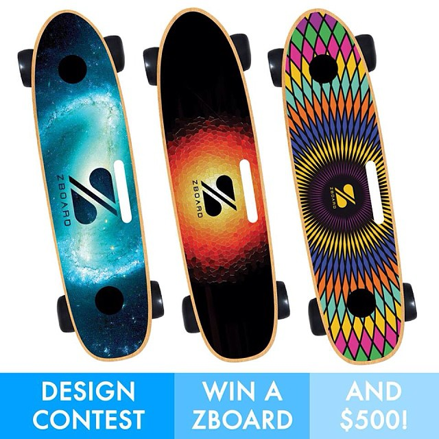 Win a ZBoard and $500 in our Custom Grip Design Contest! If your design is in the Top 10 we'll offer it in our store and every time it sells we'll send you $$$. To enter simply: 1) Head over to http://www.zboardshop.com/design 2) Download the templates...