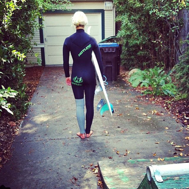 @carlywi ready for a Saturday surf sesh in SC #CaliforniaFall
