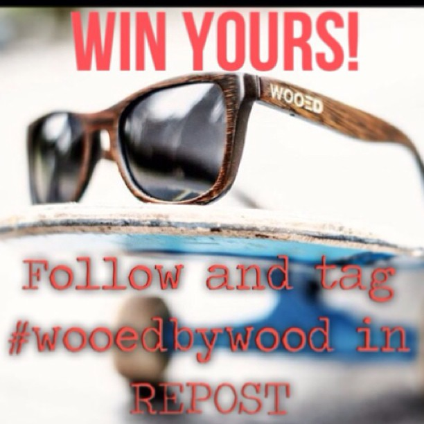 Win this wooden pair! Repost this photo