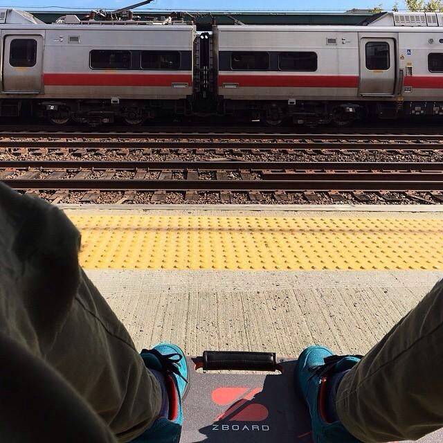 ZBoard + Public Transportation = Always a Win.  Regram from @jeffprovenzano