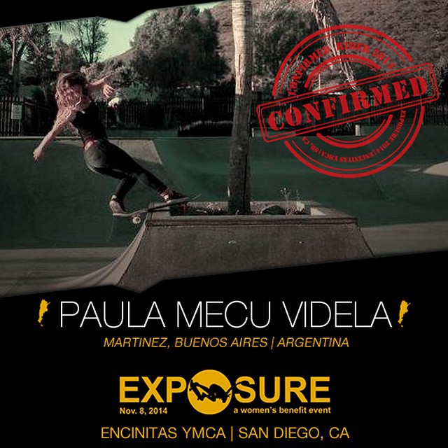 Confirmed for #EXPOSURE2014! --- Mecu VIDELA @mecuskate Birthplace: Buenos Aires, Argentina Hometown: Buenos Aires, Argentina Resides: Buenos Aires, Argentina Started Skating: 2004 Hobbies: Film, dance, painting Sponsors: Cristobal Colon, Pick Shoes,...