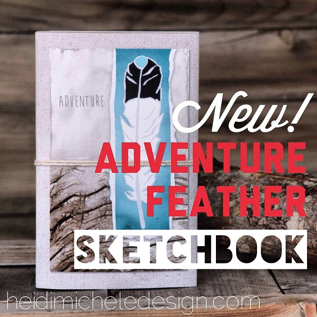 Check out this eagle feather sketchbook designed by my good friend Heidi. She has a feather journal collection on her website www.heidimicheledesigns.com. Make sure to check out her site and follow her adventures at @theabominableheidimonster. Don't...