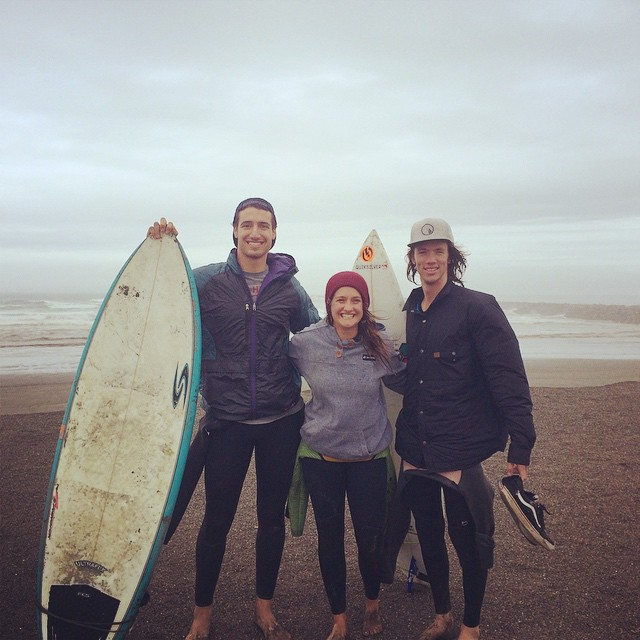 #trewtour goes surfing in Westport proving @blzablaine can do more than just ski