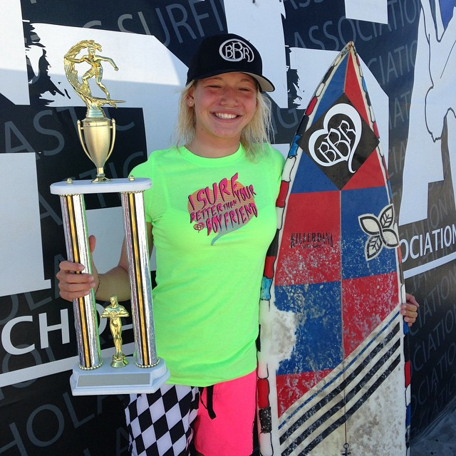 We would like to introduce and welcome to our BBR Surfteam, Bethany Zelasko.  On her first official day on the team, Bethany took first place at the NSSA explorer Event#3  at Ponto State Beach.  She is also ranked first overall.  @b_rosez we are so...