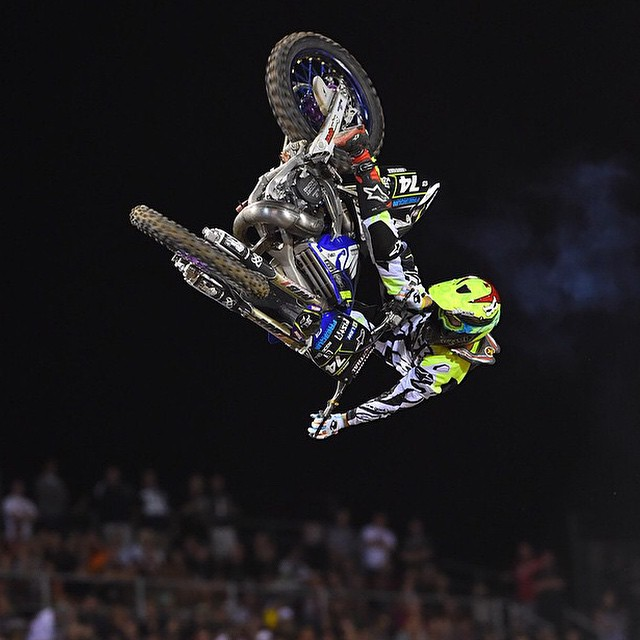 Here's another angle of @JarrydMcNeil laying down the steeze last night at the Monster Energy Cup Best Whip Comp. |