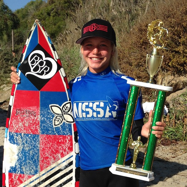 Bethany is on a fast track to the Pro circuit!  She placed first again today at the NSSA Open at Salt Creek.  Bethany has also been named, NSSA's Surfer of the Week!  We are so stoked and proud of her accomplishments this weekend. 2 contests and 2...